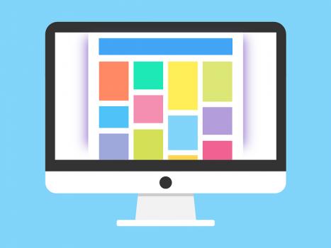 image d'un site web sur ordinateur